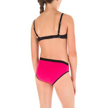Lot de 4 (3+1 gratuite) culottes noires et rose DIM Girl-DIM