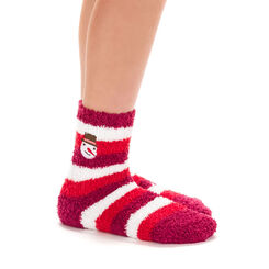 Chaussettes à rayures rouges avec broderie Noël pour Enfant-DIM