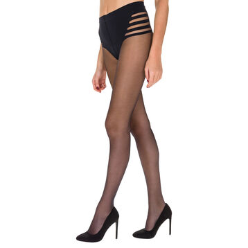 Collant noir Diam's Sexy Shaping semi-transparent 25D-DIM