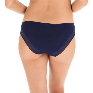 Slip bleu nuit seconde peau Invisi Fit-DIM