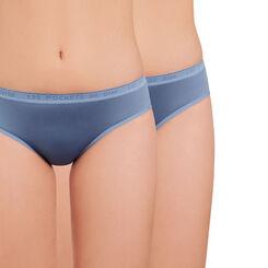 Lot de 2 culottes bleu jean en microfibre DIM Girl-DIM