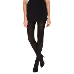 Collant noir motif alvéole Madame So Daily 36D-DIM