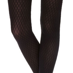 Collant noir motif alvéole Madame So Daily 36D-DIM