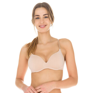 Soutien-gorge push-up sans armatures new skin Invisi Fit-DIM