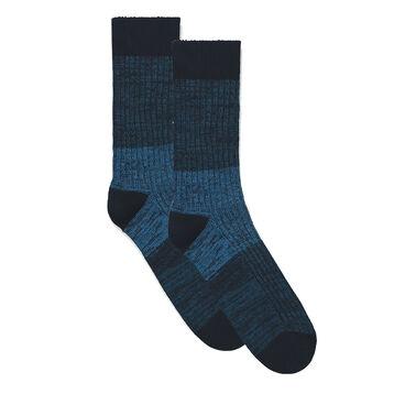 Chaussettes bleu marine côtelées en coton casual Homme-DIM