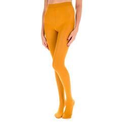 Collant jaune safran opaque velouté Style 40D-DIM