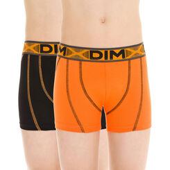 Lot de 2 boxers de sport gris et noir en coton DIM Boy-DIM