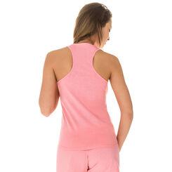 Débardeur de pyjama rose géranium 100% coton Femme-DIM