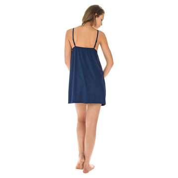 Nuisette à fines bretelles bleu marine Femme-DIM