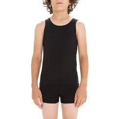 Débardeur noir en coton stretch DIM Boy-DIM