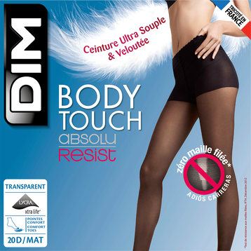 Collant beige naturel Body Touch 20D Absolu Resist-DIM