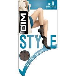 Socquettes noires pois lurex Style-DIM