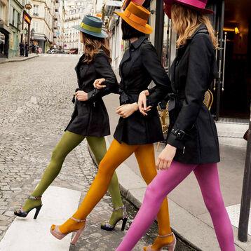 Collant kaki opaque velouté Style 40D-DIM
