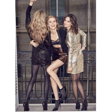 Collant couture pois lurex Style édition fin d'année 42D-DIM