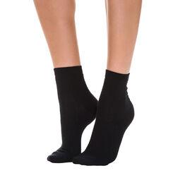 Lot de 2 paires noires en maille ajourée losange Femme-DIM
