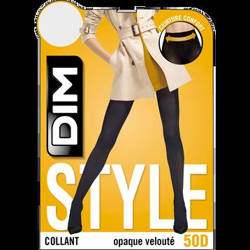 Collant jaune safran opaque velouté Style 50D-DIM