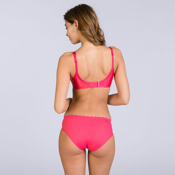 Slip rouge corail Beauty Lift Femme invisibilité totale-DIM