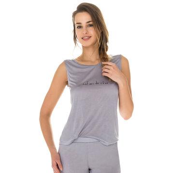 Débardeur de pyjama gris en modal Femme-DIM