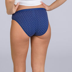 Lot de 3 slips Tropical Blue Les Pockets Coton Stretch-DIM