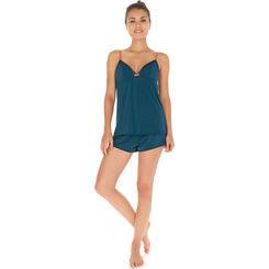 Débardeur de pyjama vert bleu Femme-DIM