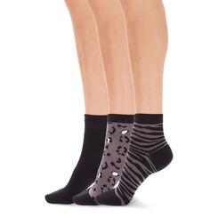 Lot de 3 paires de socquettes motif animalier Femme-DIM