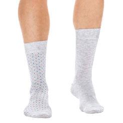 Lot de 2 paires de chaussettes plumetis grises Homme-DIM