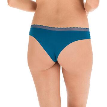 Slip brésilien en microfibre bleu corsair Invisi Fit-DIM