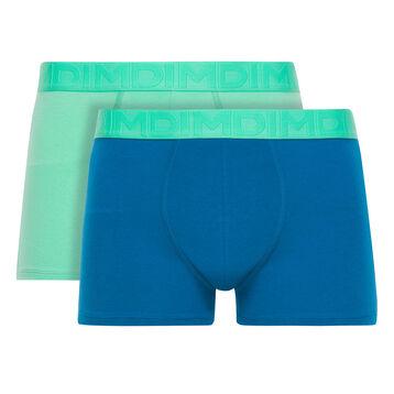 Lot de 2 boxers vert printemps et bleu océanique Mix & Fancy-DIM