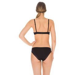 Soutien-gorge push-up sans armatures noir Invisi Fit-DIM