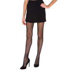 Collant noir résille ethnique Madame So Fashion 73D-DIM