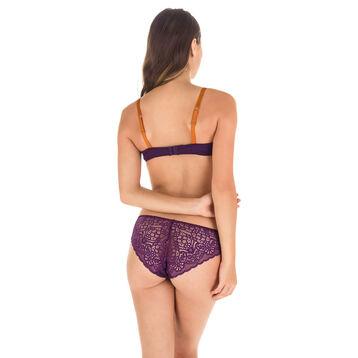Soutien-gorge foulard push-up violet profond Sublim Dentelle-DIM