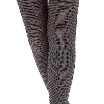 Collant chaud noir et gris motif urban pixel Style 220D-DIM