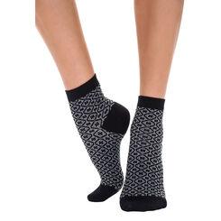 Socquettes noires à motif céramiques Femme-DIM