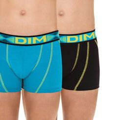 Lot de 2 boxers bleu joyau et noir Stadium DIM Boy-DIM