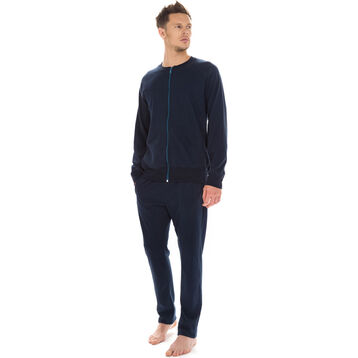 Veste zippée bleu marine 100% coton Homme-DIM