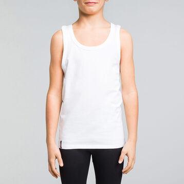 Débardeur blanc en coton stretch DIM Boy-DIM