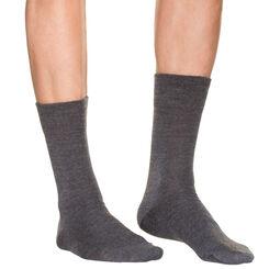 Mi-chaussettes anthracite en laine Homme-DIM