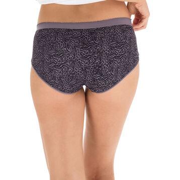 Lot de 2 boxers gris, imprimé animal Les Pockets Microfibre-DIM
