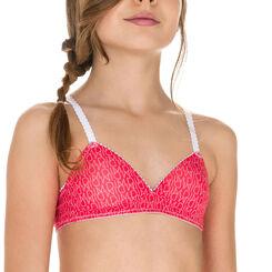 Soutien-gorge triangle rose indien DIM Girl-DIM