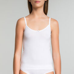 Caraco blanc coton stretch DIM Girl-DIM
