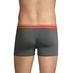 Boxer gris foncé ceinture orange feu DIM Colors-DIM