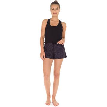 Débardeur de pyjama noir en coton stretch Femme-DIM
