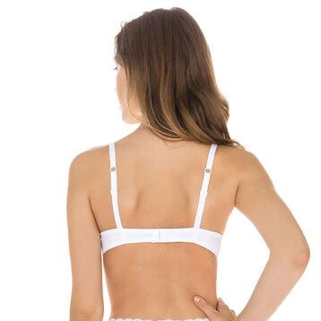Soutien-gorge foulard push-up blanc Sublim Dentelle-DIM