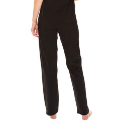 Pantalon de pyjama noir 100% coton Femme-DIM