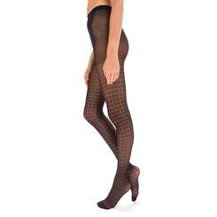 Collant noir motif pied-de-coq Style 21D-DIM