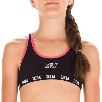 Brassière de sport noire DIM Girl-DIM