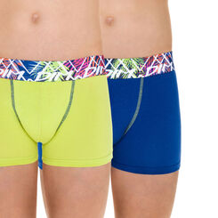 Lot de 2 boxers bleu et absinthe Tropic DIM Boy-DIM