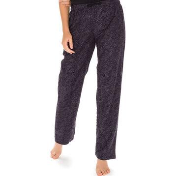 Pantalon de pyjama gris imprimé zébré Femme-DIM