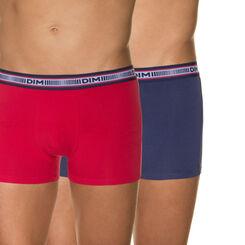 Lot de 2 boxers rubis et bleu nuit 3D Flex-DIM