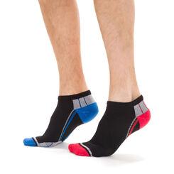 Lot de 2 paires de socquettes sport noires X-Temp Homme-DIM